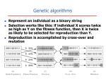 genetic algorithms21