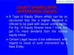equity shares with differential rights