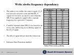 write strobe frequency dependency