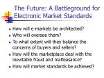 the future a battleground for electronic market standards