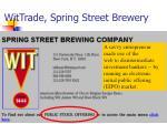wittrade spring street brewery
