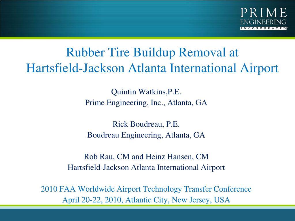 rubber tire buildup removal at hartsfield jackson atlanta international airport l.