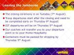 leaving the jamboree