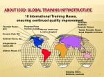 about iccd global training infrastructure