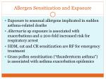 allergen sensitization and exposure