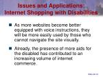 issues and applications internet shopping with disabilities41