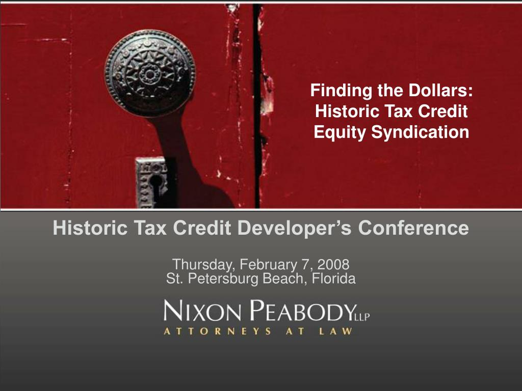 finding the dollars historic tax credit equity syndication l.