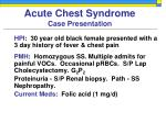 acute chest syndrome case presentation