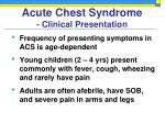 acute chest syndrome clinical presentation