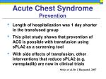 acute chest syndrome prevention42