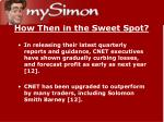 how then in the sweet spot16