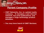 parent company profile