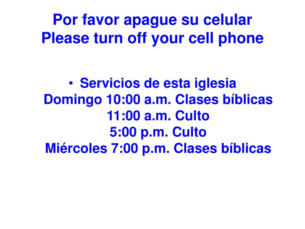 por favor apague su celular please turn off your cell phone l.
