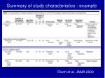 summary of study characteristics example