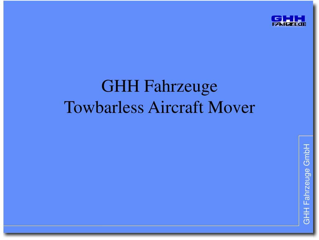 ghh fahrzeuge towbarless aircraft mover l.