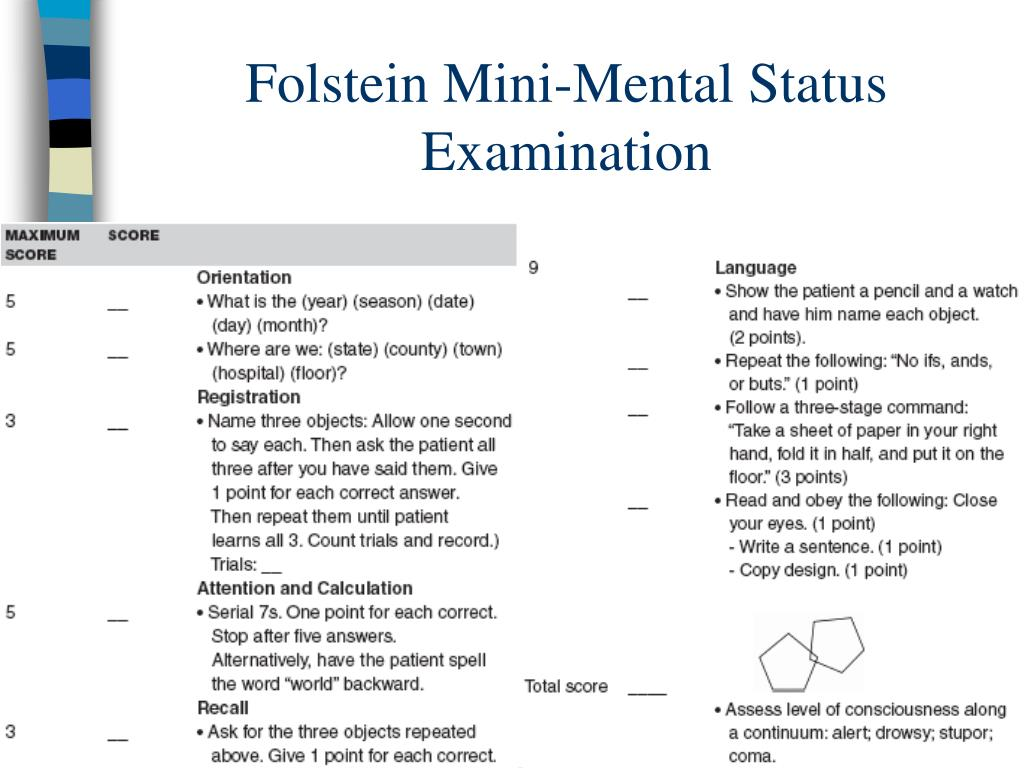 Folstein Mini-Mental Status Examination