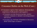 consumer habits on the web cont