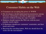 consumer habits on the web