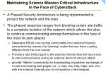 maintaining science mission critical infrastructure in the face of cyberattack