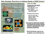 new strategic directions to address needs of doe science