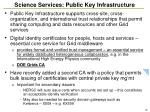science services public key infrastructure