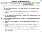 science services strategy