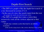 depth first search42