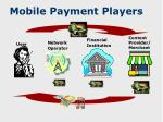 mobile payment players
