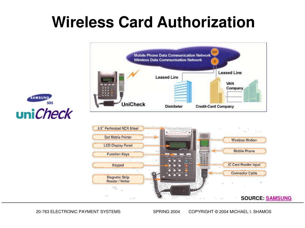 Wireless Card Authorization