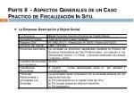 parte ii aspectos generales de un caso practico de fiscalizaci n in situ