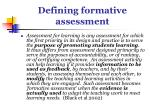 defining formative assessment