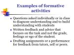 examples of formative activities