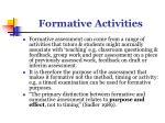 formative activities