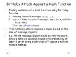 birthday attack against a hash function