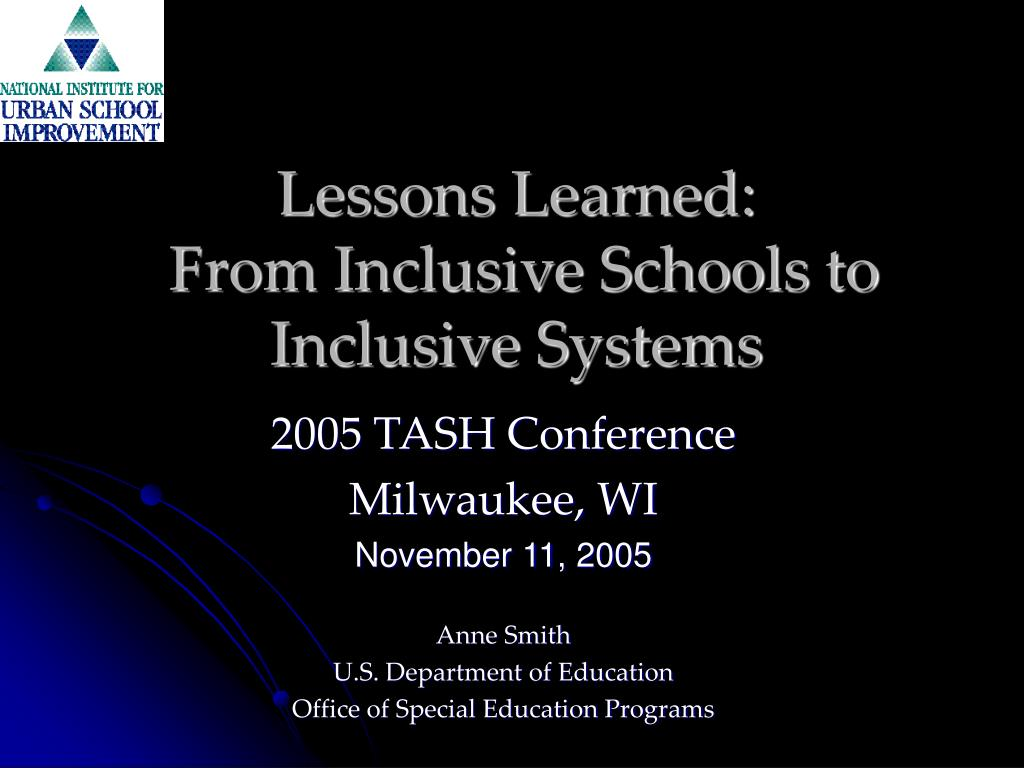 lessons learned from inclusive schools to inclusive systems l.