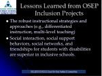 lessons learned from osep inclusion projects9