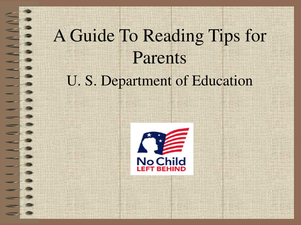 a guide to reading tips for parents u s department of education l.