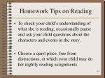 homework tips on reading14