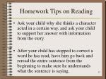 homework tips on reading15
