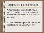 homework tips on reading16