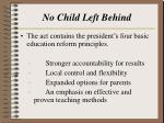 no child left behind21