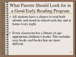 what parents should look for in a good early reading program12