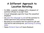a different approach to location retailing