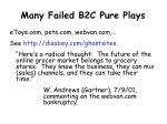many failed b2c pure plays