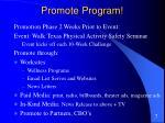 promote program
