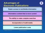 advantages of electronic publications