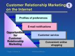 customer relationship marketing on the internet