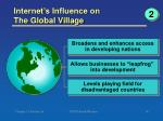 internet s influence on the global village