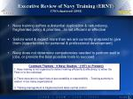 executive review of navy training ernt cno chartered 2001