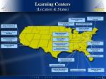 learning centers location status